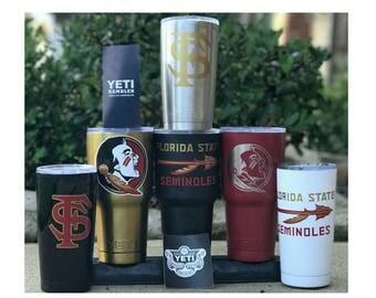 YETI - FSU Florida State Seminoles 20oz 30oz Rambler Tumbler Cup Mug Powder Coated Yeti Fsu Florida State Seminoles 20oz 30oz