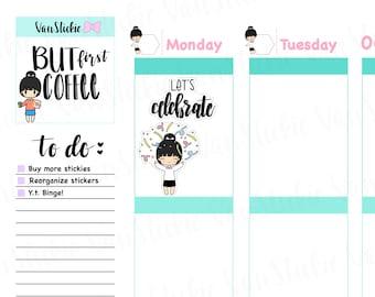 Chibit - Time To Celebrate Planner Sticker Set