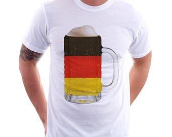 Germany Country Flag Beer Mug Tee, Home Tee, Country Pride, Country Tee, Beer Tee, Beer T-Shirt, Beer Thinkers, Beer Lovers Tee, Fun Tee