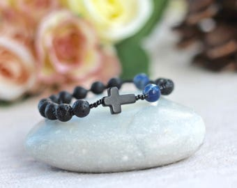 Boy's Rosary Bracelet, First Communion Gifts, Confirmation Gifts, Reconciliation Gifts, Godson Gifts.