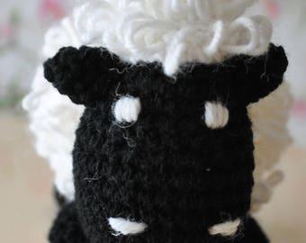 Little sheep crochet blanket