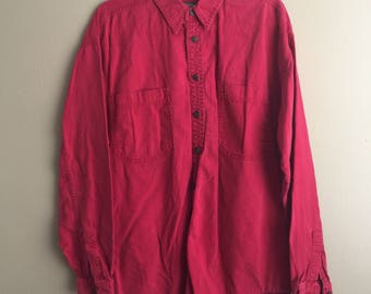 Vintage Red Levi's Long Sleeve Button Up