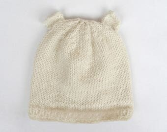 Baby bear Hat cream