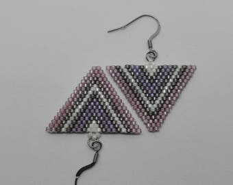 Miyuki beads earrings - triangles
