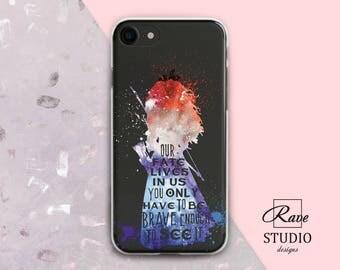 Disney Brave Princess Merida Watercolor case iPhone 7 case Disney iPhone 8 case Merida painting iPhone x case Disney Merida print Quote