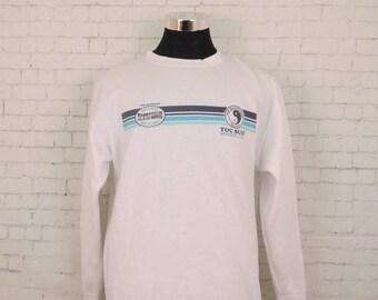 Vintage T&C Surf Designs Sweatshirt Surfing Board Outdoor Sweater Size XL
