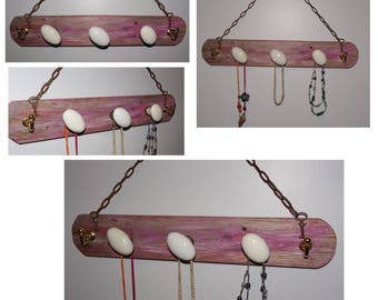 WEAR JEWELRY - CERAMIC AND OLD WOOD HANDLES