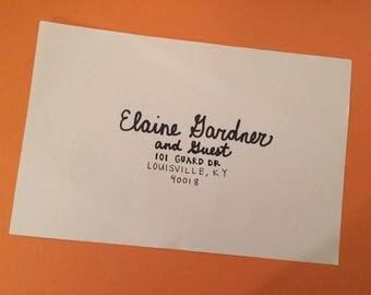 envelope addressing etsy - Wedding Invitation Addressing