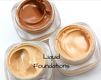 Organic Full Coverage Creamy Liquid Foundations, 30ml
