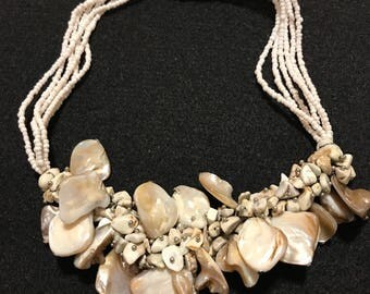 Chunky Vintage Beaded Necklace