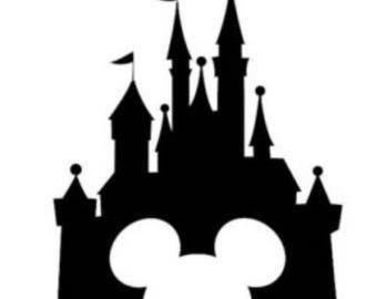 Castle vinyl sticker. Disney castle sticker.