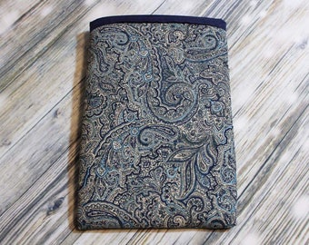 Navy Paisley Book Sleeve