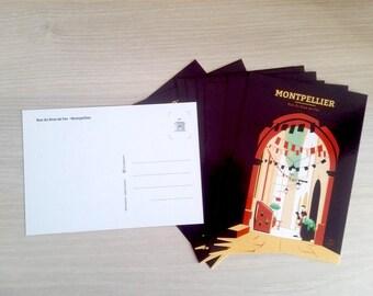Montpellier street - postcard