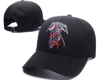 yeezus black grim reaper baseball cap