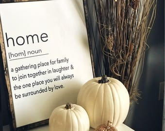 Home Sign / Home Definition / Home Is Where The Heart Is / Home Is Where I Am With You / HouseWarming Gift / Housewarming Gift Ideas