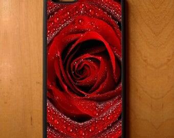 Rose Petals Water Drop Print Pattern Phone Case Samsung Galaxy S6 S7 S8 Note Edge Apple iPhone 4 5 5S 5C 6 6S 7 SE Plus + LG G3 skin rubber