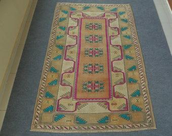 Overdyed Turkish Rug, Turkish Oushak Rug, Overdyed Oushak Rug, Anatolian Rug, Handmade Rug