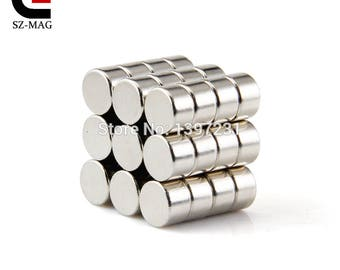 Super strong neodymium magnet 50pcs disc 8x5mm N50 rare earth permanent industrial strong nickle