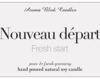 All Natural Soy Candle - French Collection - Fresh Start Scent