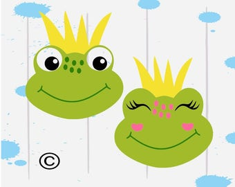 Frog Svg, Frog Prince svg, Prince Charming Svg, Fairytale svg,  SVG Files, Cricut, Cameo, Cut file, Files, Clipart, Svg, DXF, Png, Pdf, Eps