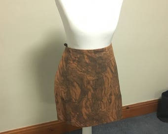 Size 12 marble leather skirt
