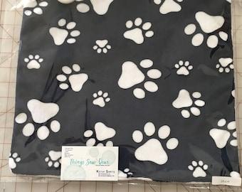 Minky Lovey Blanket, Lovie, Baby Gift, Teething Blanket, Footprints, Paws, Teething Toy