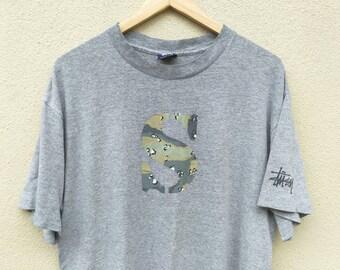 Vintage Stussy Camo Choc Chip tshirt