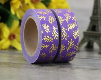 Washi Tape - Decorative Tape - Paper Tape - Planner Tape - Lavendar Branch Washi Tape - Foil Washi Tape