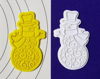 Decorated Snowman Cookie Cutter and Stamp