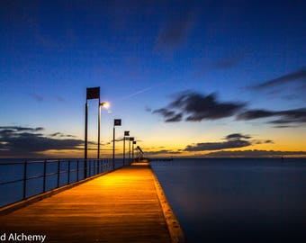 Frankston Pier sunset color photography