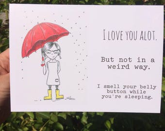Funny Valentines Day Card creepy