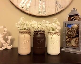 Neutral Decorative Mason Jars