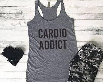 Workout Tank Top, Fitness Tank Top, Yoga Tank Top, Workout Tank, Shirts With Sayings, Cardio Addict