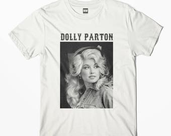 Dolly Parton White Vintage Look T-Shirt - S M L XL