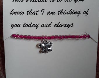 Thinking of you Charm Bracelet and Poem