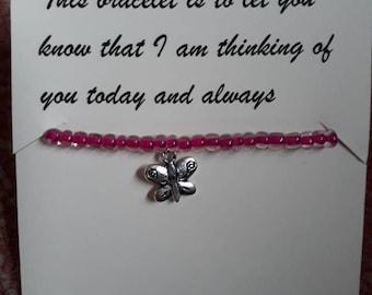Thinking of you Charm Bracelet and Poem