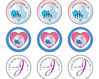 INSTANT DOWNLOAD!! Jack and Jill of America round 1inch bottle cap images (set 1) 4x6 sheet