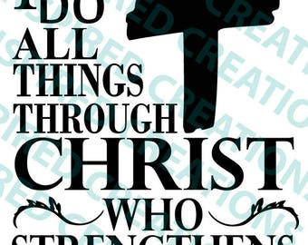 All things through Christ SVG