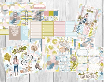 PREMIUM WEEKLY KIT // Sweater Weather for Erin Condren Life Planner™ and Classic Happy Planner