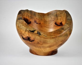 Hand turned natural edge maple bowl