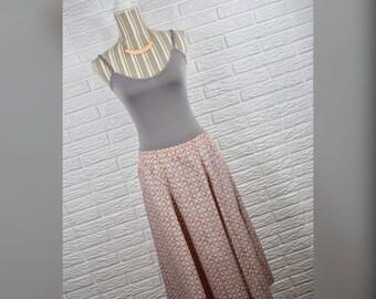 Vtg 70s/80s BonWorth Patterned Midi Skirt Sz 10