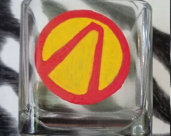 Small Borderlands Vault Symbol candle