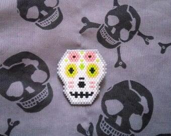 Badges skull Mexican brickstitch