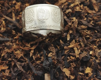 1 Oz silver Mexican Libertad coin ring