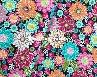 Michael Miller Fabrics Emma's Garden - Emma in Jewel - Sold by the Yard
