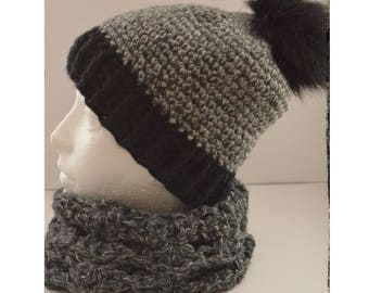 hat and collar set crochet for women / hat and collar handmade
