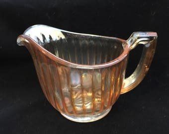 Vintage creamer carnival glass