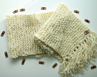 Custom Order | Tasseled, Garter Stitch, Over sized, Extra Long, Infinity Scarf