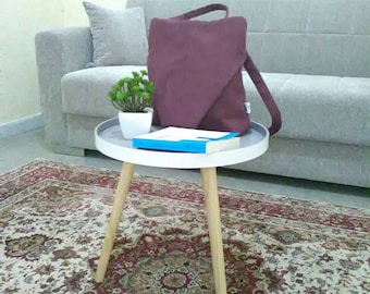 Backpack in Alcantara plum color, Lorenza backpack, handmade in Italy, gifts for her
