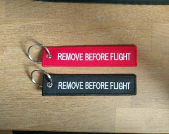 2x Remove before flight Tags/Keychains red,black or mix